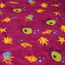 Fleece medvedík ružový, morský svet, š.160