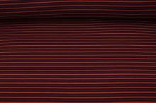 Úplet cihlovo-černý pruh, š.150