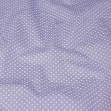 Bavlněné plátno lila, bílý puntík, š.140