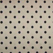 Úplet LINO pieskový, čierne bodky, š.150