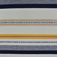 Úplet biely, modré a žlté pruhy, š.180