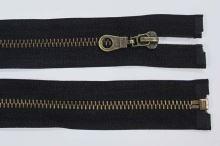 Zip kovový 6mm staromosaz délka 75cm, barva 332 (dělitelný)
