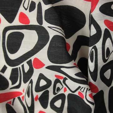 Košilovina 07873 červeno-černo-bílá, š.150
