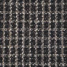 Kabátovina černo-bílo-béžová, š.145