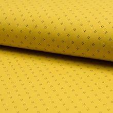 Úplet žlté piké, bodky, š.160