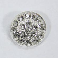 Gombík štrasový strieborný G9, priemer 23 mm
