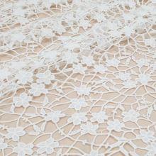 Krajka bílá, drobné květy, š.130