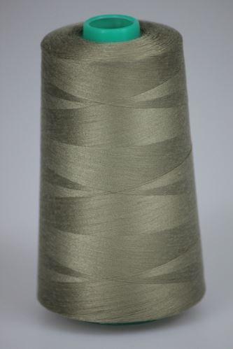 Niť KORALLI polyesterová 120, 5000, odtieň 7550, béžová-šedá