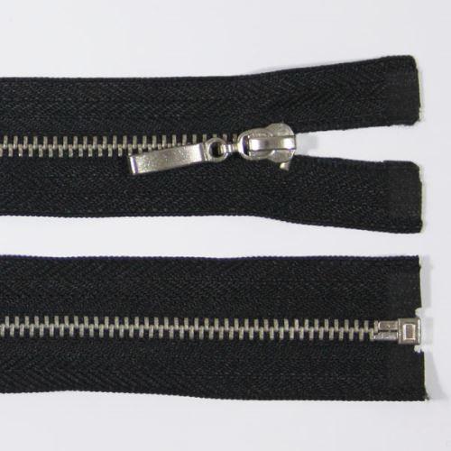 Zips kovový 4mm chróm dĺžka 55cm, farba 332 (deliteľný)