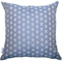 Dekoračný vankúš, modro-biely vzor, 45x45 cm