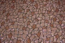Flitry béžovo-zlatá prošívaná mozaika š.110