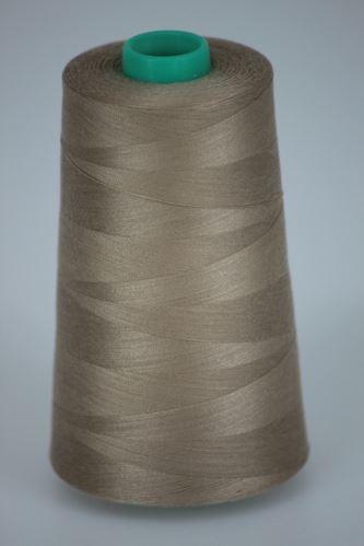 Niť KORALLI polyesterová 120, 5000Y, odtieň 8410, béžová