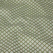 Bavlna zelená, drobné štvorlístky, š.140