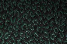 Kostýmovka černá, zelený vzor š.120