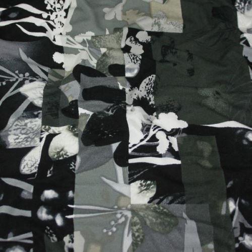 Úplet khaki, čiernobiely kvet š.150
