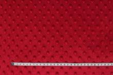 Minky červené, protlačované ťuplíky, š.150