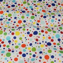 Bavlnené plátno BW922, farebné bodky, š.145