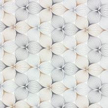 Dekorační látka P0541 bílá, šedo-béžový vzor, š.140
