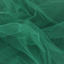 Tyl závojový tmavě zelený š.180