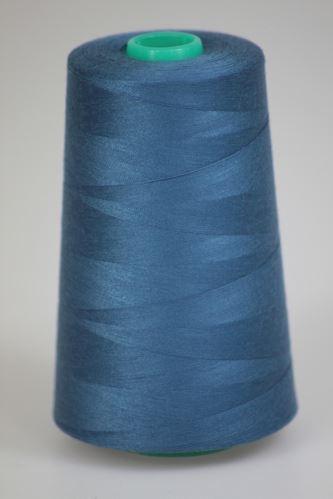 Niť KORALLI polyesterová 120, 5000Y, odtieň 5465, modrá