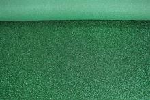 Efektní látka zelená, š.110