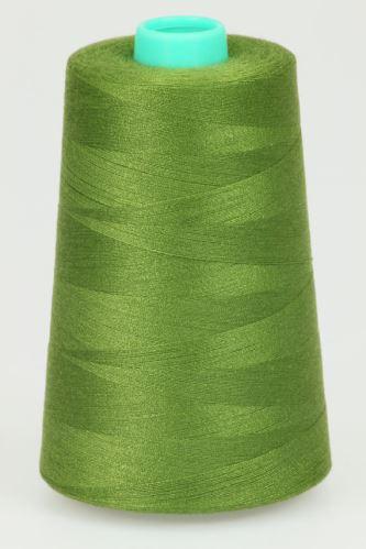 Niť KORALLI polyesterová 120, 5000Y, odtieň 6390, zelená