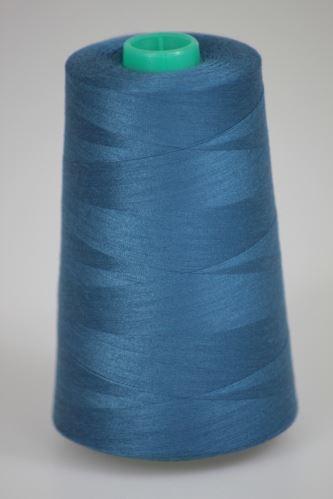 Niť KORALLI polyesterová 120, 5000, odtieň 5780, modrá