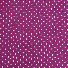 Úplet fialový, biele kvapky, š.150