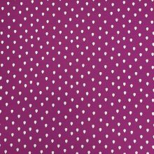 Úplet fialový, bílé kapky, š.150
