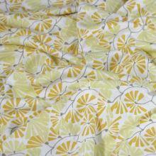 Úplet biely, béžovej a žlté kvety, š.140
