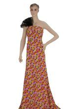 Šatovka květy žluté, červené, fialové š.150