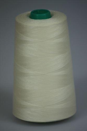 Niť KORALLI polyesterová 120, 5000Y, odtieň 1220, svetlo žltá