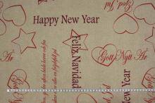 Dekorační látka, Christmas and Happy New Year, š.135