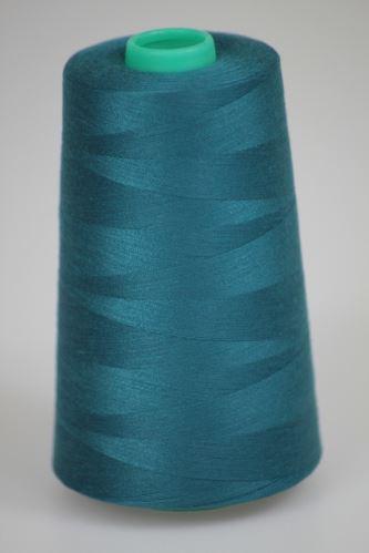 Niť KORALLI polyesterová 120, 5000Y, odtieň 5755, modrá-zelená