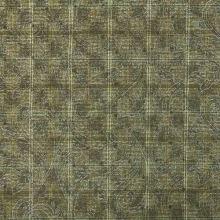 Kostýmovka N0050 béžovozelená, káro, stříbný tisk š.145