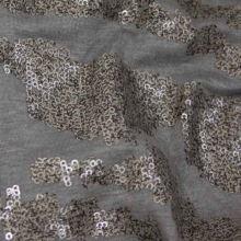 Úplet šedý, zlatohnědé flitry, š.140