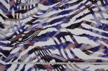 Úplet krémový 15854, fialový vzor, š.145