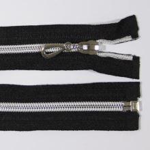 Zips špirálový 6mm dĺžka 65cm, farba 332 (deliteľný) so striebornými zúbkami