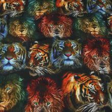 Úplet farebný, lev a tiger, š.160