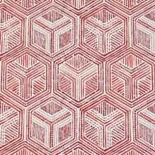 Dekorační látka krémová, červený vzor, š.140