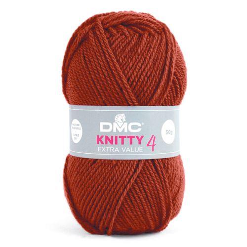 Příze KNITTY 4 50g, oranžová - odstín 700