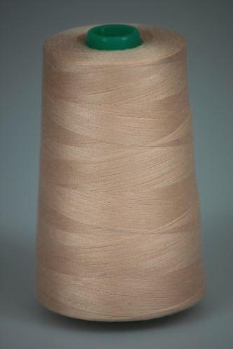 Niť KORALLI polyesterová 120, 5000Y, odtieň 3120, oranžová-ružová