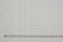 Koženka biela perforovaná, hviezdičky, š.140