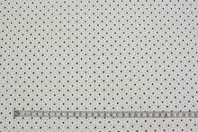 Koženka bílá perforovaná, hvězdičky, š.140