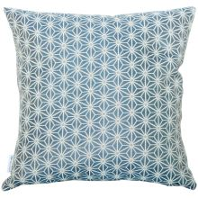 Dekoračný vankúš, tmavý modro-biely vzor, 45x45 cm