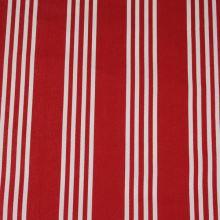 Lehátkovina červená, bílý pruh, š.45