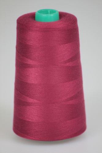 Niť KORALLI polyesterová 120, 5000Y, odtieň 2660, červená-fialová