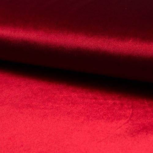 Samet DE LUXE červený, 260g/m, š.145