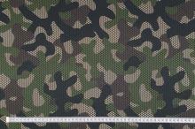 Teplákovina nepočesaná zeleno-hnědý army vzor, š.175