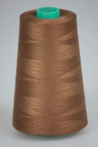 Niť KORALLI polyesterová 120, 5000Y, odtieň 8270, béžová-hnedá